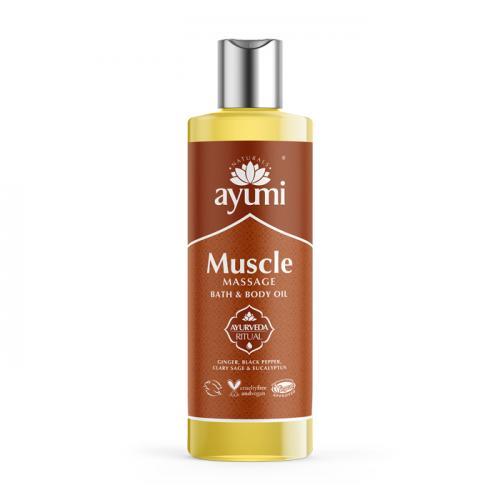 Huile de Massage Ayurvédique - Massage Musculaire - 250ml